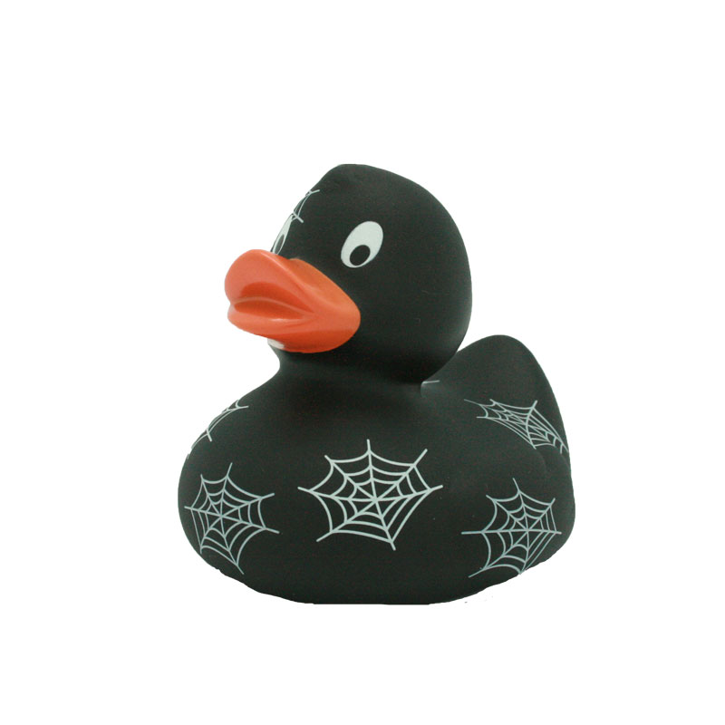 Spider web rubber duck