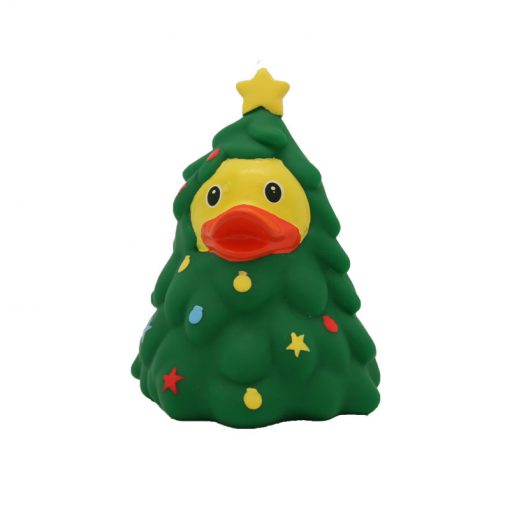 Christmas tree rubber duck