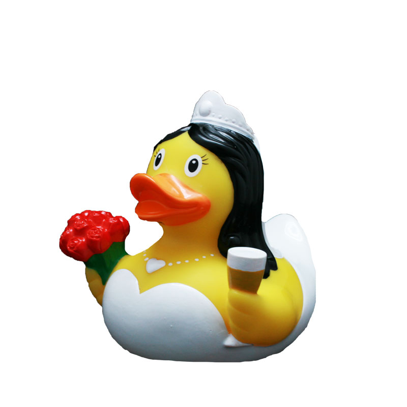 bride rubber duck champaign