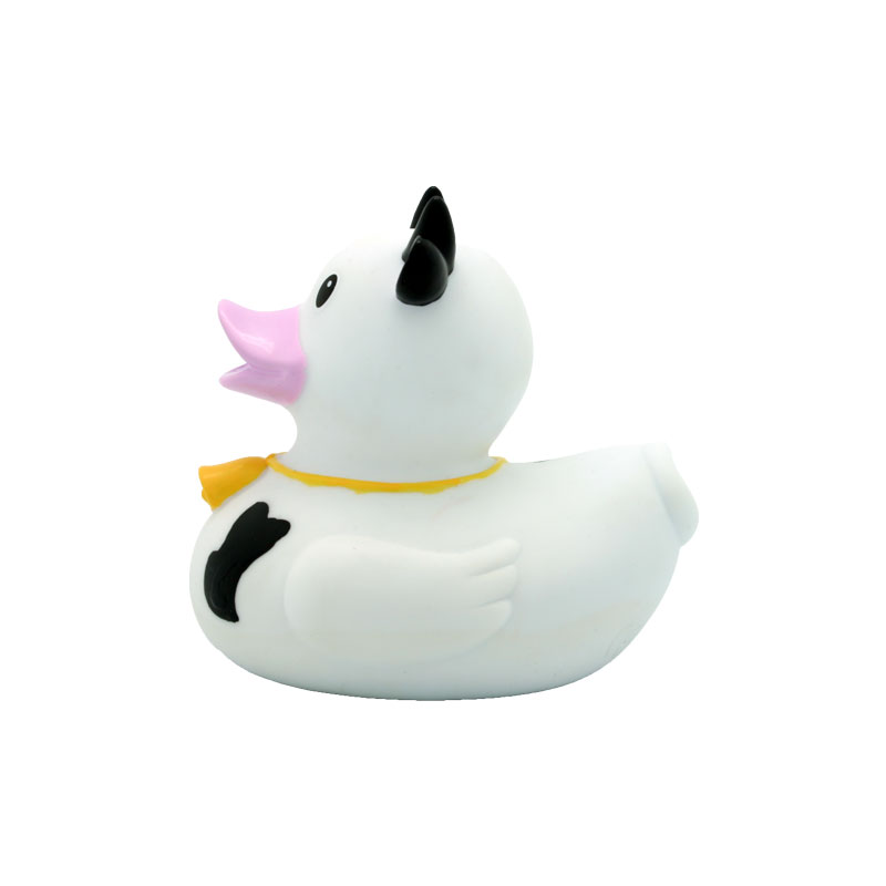 cow rubber duck black and white