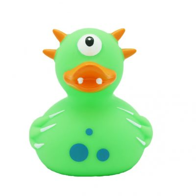 monster green rubber duck