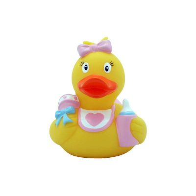 baby girl rubber duck