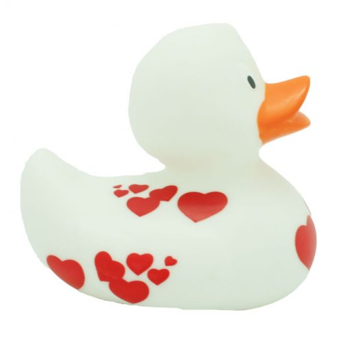 White Red Hearts Rubber duck Amsterdam Duck Store