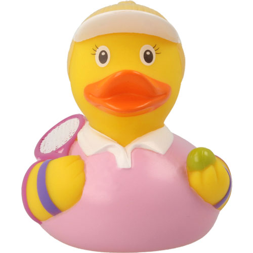 Tennis woman rubber duck